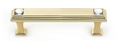 Alno Geometric 3 1/2'' Center Bar Pull; Gold