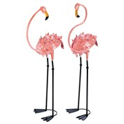 Zingz & Thingz Flamboyant 2 Piece Flamingo Garden Stake Set