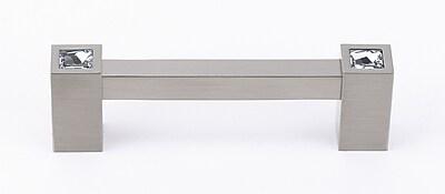 Alno Swarovski Crystal 3 1/2'' Center Bar Pull; Satin Nickel