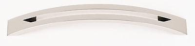 Alno Split Top 6'' Center Arch Pull; Polished Nickel