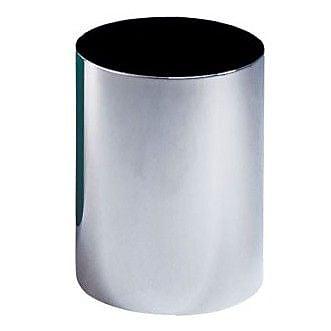 Peter Pepper Steel Waste Basket; Aluminum Metallic