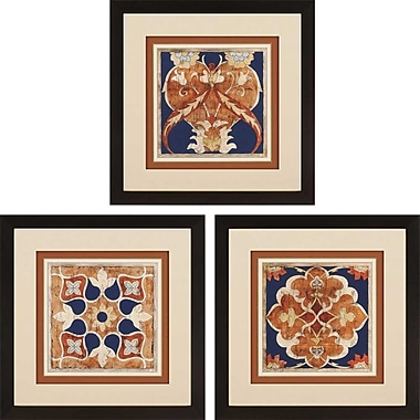 Paragon Woodblocks I Giclee by Zarris 3 Piece Framed Graphic Art Set