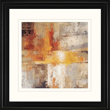 Paragon Silver and Amber by Vassileva Framed Painting Print