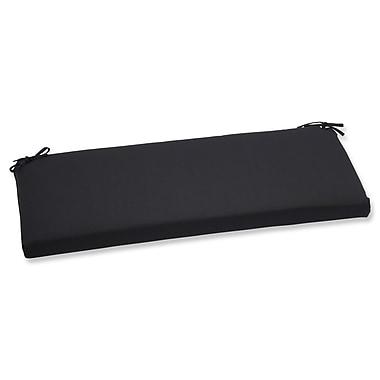 Pillow Perfect Canvas Outdoor Sunbrella Bench Cushion; Black