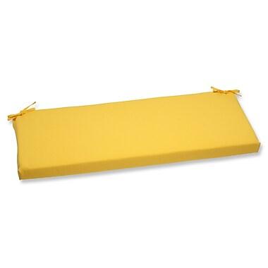 Pillow Perfect Fresco Outdoor Bench Cushion; Yellow