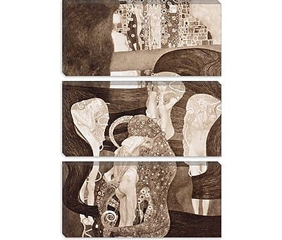iCanvas 'Jurisprudenz' by Gustav Klimt Painting Print on Canvas; 12'' H x 8'' W x 0.75'' D