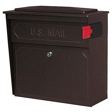 Mail Boss Townhouse Locking Wall Mounted Mailbox; Bronze