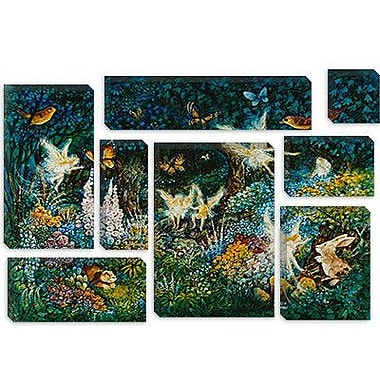 iCanvas 'Forest Fairies' by Bill Bell Painting Print on Canvas; 18'' H x 26'' W x 1.5'' D