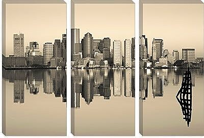 iCanvas Panoramic 'Boston, Massachusetts' Photographic Print on Canvas; 8'' H x 12'' W x 0.75'' D
