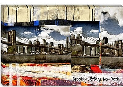 iCanvas Luz Graphics Brooklyn B New York Graphic Art on Canvas; 26'' H x 40'' W x 0.75'' D