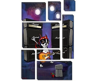 iCanvas 'BT Rock Star Les Paul' by Brian Rubenacker Graphic Art on Canvas; 18'' H x 12'' W x 1.5'' D