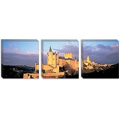 iCanvas Panoramic Alcazar Castle, Old Castile, Segovia Spain Photographic Print on Canvas