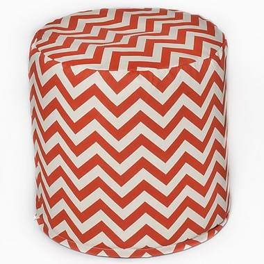 OC Fun Saks Bean Bag Cylinder Ottoman; Orange