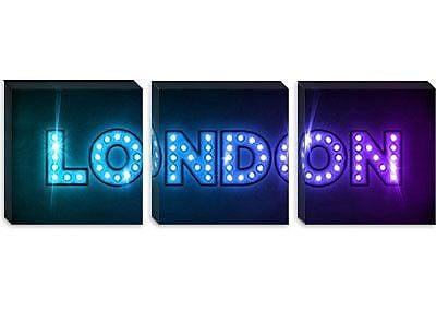 iCanvas 'London' by Michael Tompsett Textual Art on Canvas; 20'' H x 60'' W x 0.75'' D