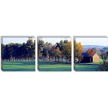 iCanvas Panoramic Barn Baltimore County MD Photographic Print on Canvas; 30'' H x 90'' W x 1.5'' D