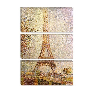 iCanvas Eiffel Tower by Georges Seurat Painting Print on Canvas; 60'' H x 40'' W x 1.5'' D