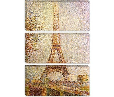 iCanvas Eiffel Tower by Georges Seurat Painting Print on Canvas; 40'' H x 26'' W x 1.5'' D