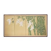Oriental Furniture 24'' Bamboo Escape 4 Panel Room Divider