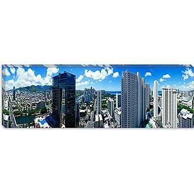 iCanvas Panoramic Waikiki Beach, Oahu, Honolulu, Hawaii Photographic Print on Canvas
