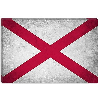 iCanvas Alabama Flag, Grunge Graphic Art on Canvas; 26'' H x 40'' W x 1.5'' D