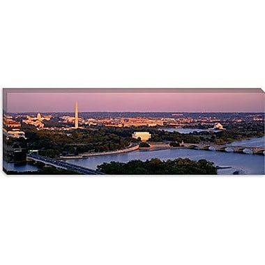 iCanvas Panoramic Aerial, Washington D.C, District Columbia Photographic Print on Canvas