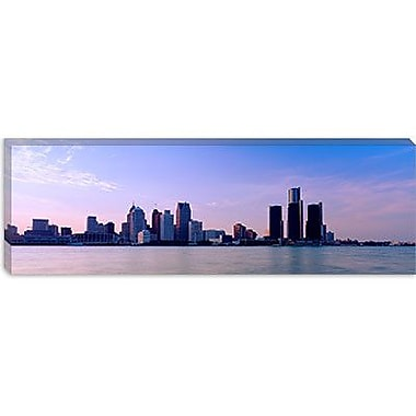 iCanvas Panoramic Buildings along Waterfront Detroit, Michigan Photographic Print on Canvas