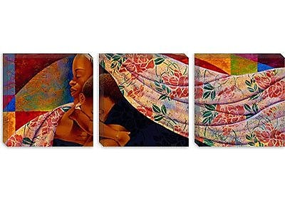 iCanvas 'In Mother's Hands' by Keith Mallett Graphic Art on Canvas; 16'' H x 48'' W x 0.75'' D