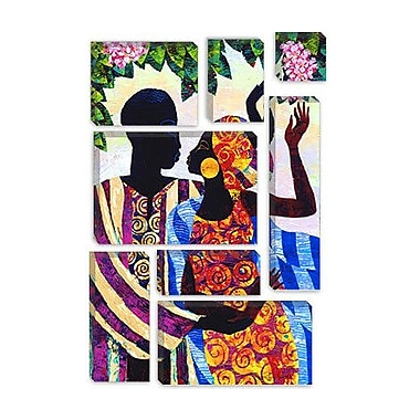 iCanvas 'In the Garden' by Keith Mallett Graphic Art on Canvas; 12'' H x 8'' W x 0.75'' D