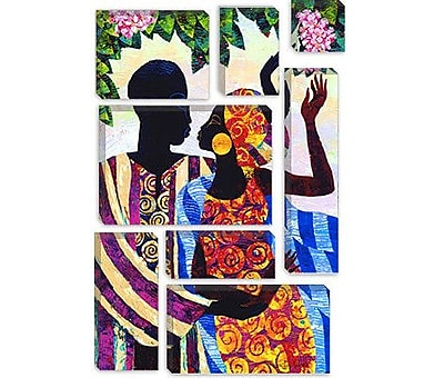 iCanvas 'In the Garden' by Keith Mallett Graphic Art on Canvas; 40'' H x 26'' W x 0.75'' D