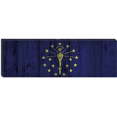 iCanvas Indiana Flag, Panoramic Graphic Art on Canvas; 16'' H x 48'' W x 1.5'' D