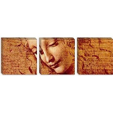 iCanvas 'Female Head' by Leonardo da Vinci Painting Print on Canvas; 12'' H x 36'' W x 1.5'' D