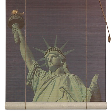 Oriental Furniture Statue of Liberty Bamboo Roller Blind; 72'' W x 72'' L