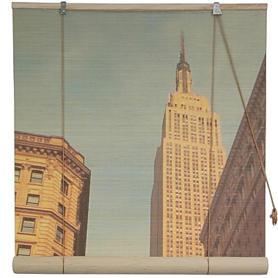 Oriental Furniture Empire State Building Bamboo Roller Blind; 72'' W x 72'' L