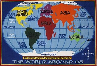 Fun Rugs Fun Time World Map Kids Rug; 2'7'' x 3'11''