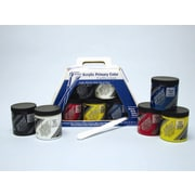 Weber Art Prima Acrylic - Primary Color Set (Five 236 mL Jars) & More