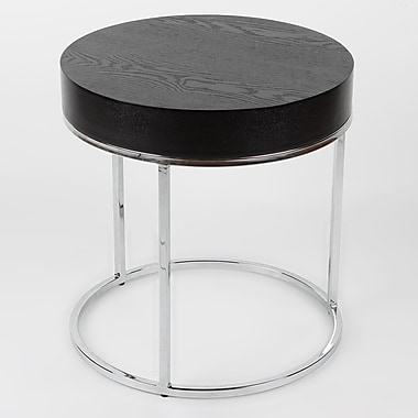 Whiteline Imports Mog Side Table; Black Veneer
