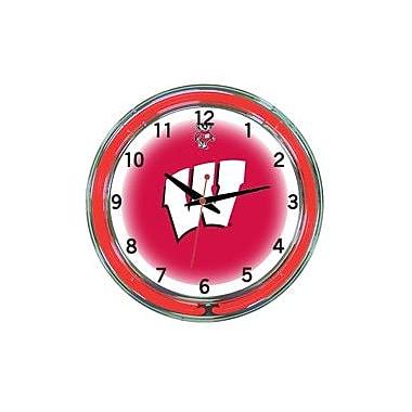 Wave 7 NCAA 18'' Team Neon Wall Clock; Wisconsin