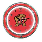 Wave 7 NCAA 14'' Team Neon Wall Clock; Maryland