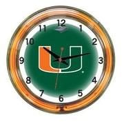Wave 7 NCAA 18'' Team Neon Wall Clock; Miami