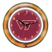 Wave 7 NCAA 14'' Team Neon Wall Clock; Virginia Tech