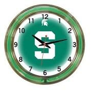 Wave 7 NCAA 18'' Team Neon Wall Clock; Michigan State