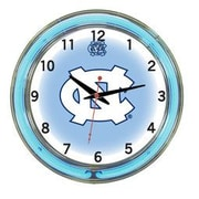 Wave 7 NCAA 18'' Team Neon Wall Clock; North Carolina