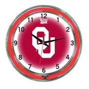 Wave 7 NCAA 18'' Team Neon Wall Clock; Oklahoma
