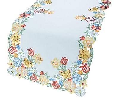 Xia Home Fashions Spring Chicks Table Runner; 16'' x 34''
