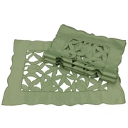 Xia Home Fashions Tulip Bouquet Placemat (Set of 4); Green