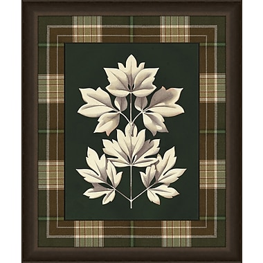 Melissa Van Hise Leaves in Plaid IV Framed Graphic Art