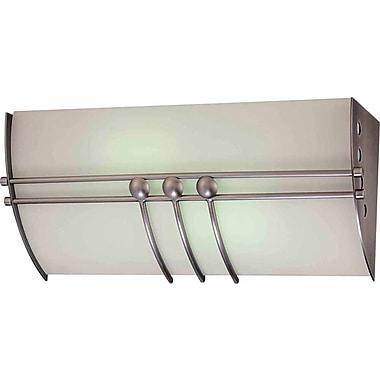 Volume Lighting Avila 2-Light Bath Bar; Brushed Nickel