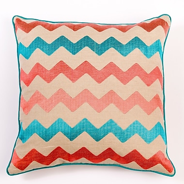 Filling Spaces Ikat and Suzani All Chevron Linen Pillow Cover; Mixed