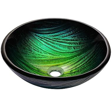 Kraus Nei Glass Circular Vessel Bathroom Sink