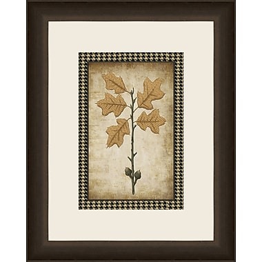 Melissa Van Hise Houndstooth Leaves V Framed Graphic Art